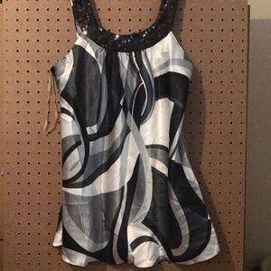 Vanity size large dressy top